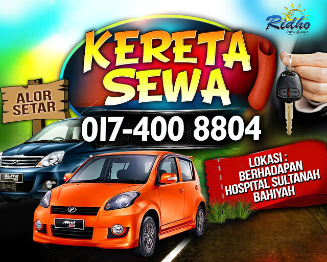 Alor Setar Airport Car Rental Start From RM90/day